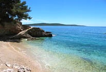 Beach on island of Hvar near accommodation in vacation rentals. Beaches near apartments